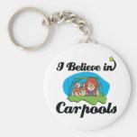 creo en carpools llaveros personalizados
