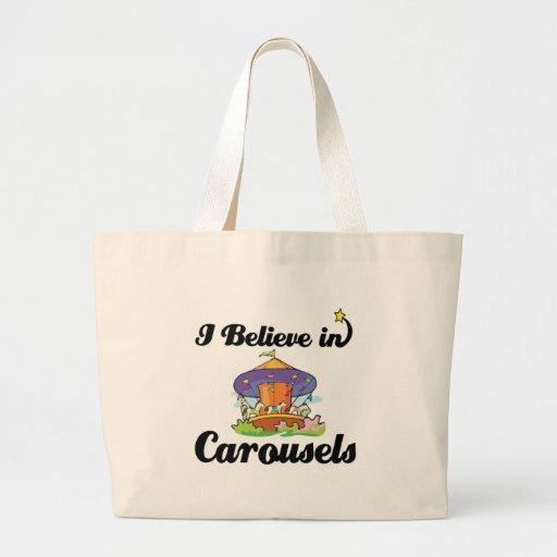 creo en carruseles bolsa tela grande