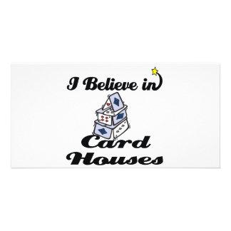 creo en casas de la tarjeta tarjeta personal