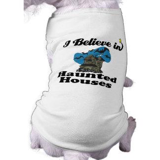 creo en casas encantadas camisa de perrito