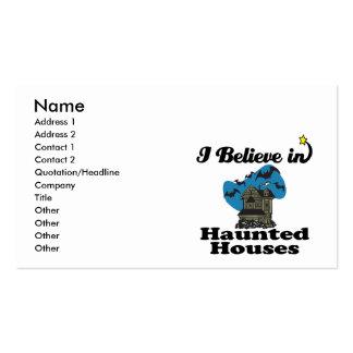 creo en casas encantadas tarjeta de visita