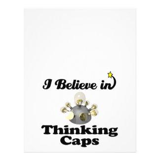 """creo en casquillos de pensamiento folleto 8.5"""" x 11"""""""