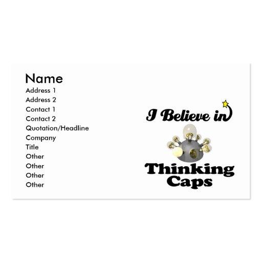creo en casquillos de pensamiento tarjetas de visita