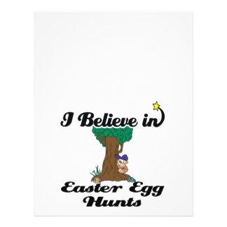 "creo en cazas del huevo de Pascua Folleto 8.5"" X 11"""