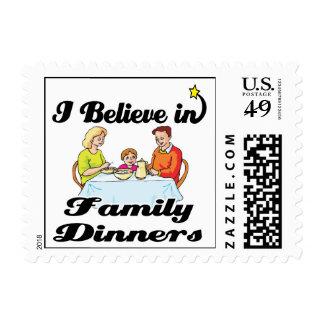 creo en cenas de la familia franqueo