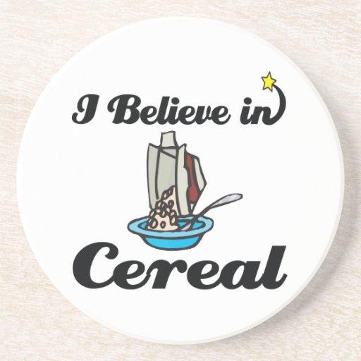 creo en cereal posavasos cerveza