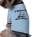 creo en cestas de la bici camiseta de perrito