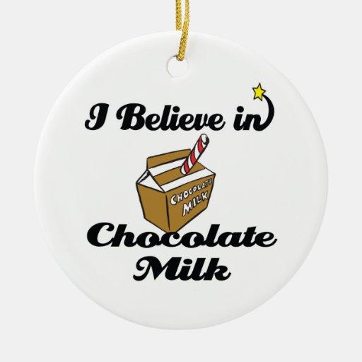 creo en chocolate caliente ornamento de navidad