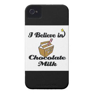 creo en chocolate caliente iPhone 4 cárcasas