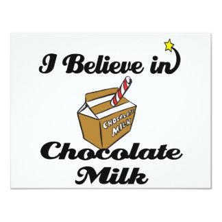 """creo en chocolate caliente invitación 4.25"""" x 5.5"""""""