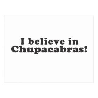 ¡Creo en Chupacabras! Postales