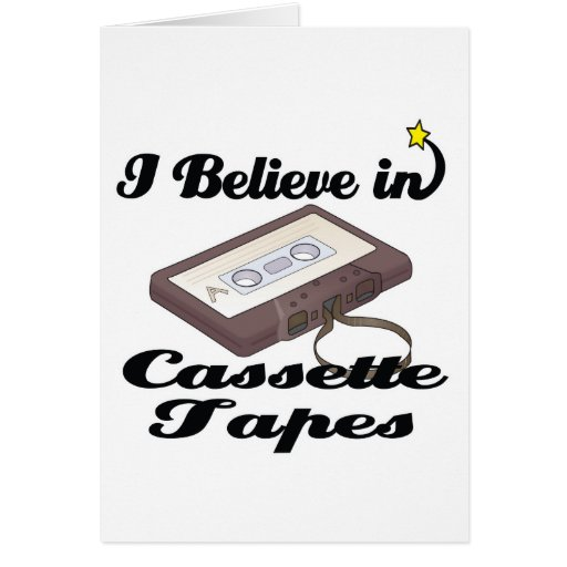creo en cintas de casete tarjeta de felicitación