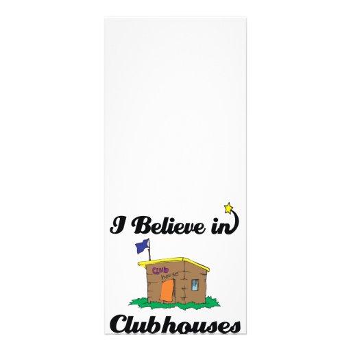 creo en clubs diseño de tarjeta publicitaria