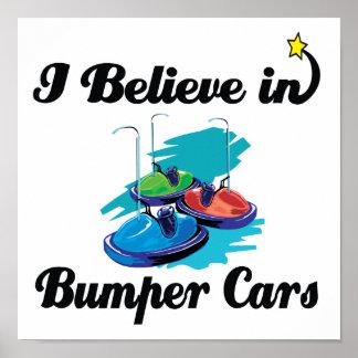 creo en coches de parachoques póster