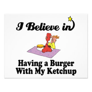 creo en comer la hamburguesa con mi salsa de tomat comunicado