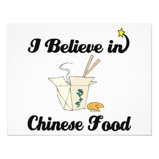 creo en comida china comunicado personal