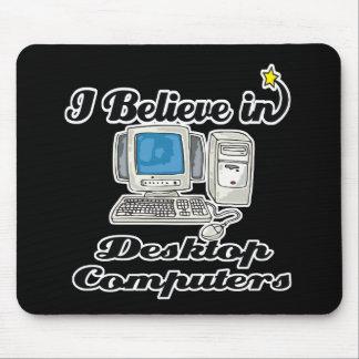 creo en computadoras de escritorio alfombrillas de ratón