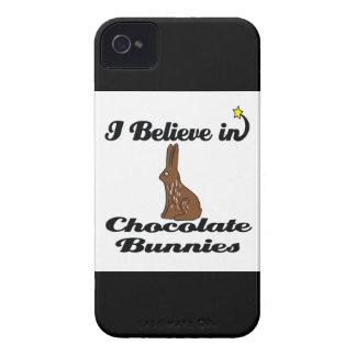 creo en conejitos del chocolate Case-Mate iPhone 4 carcasa