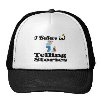 creo en contar historias gorros bordados