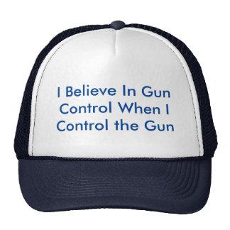 Creo en control de armas cuando controlo el arma gorra