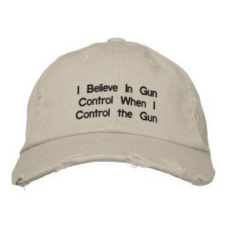 Creo en control de armas cuando controlo el arma gorra de béisbol