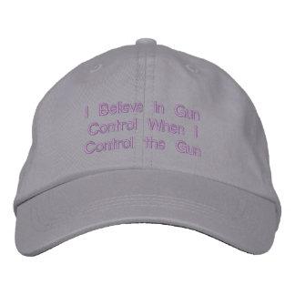 Creo en control de armas cuando controlo el arma gorras de béisbol bordadas