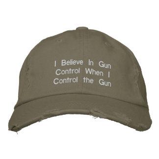 Creo en control de armas cuando controlo el arma gorra bordada