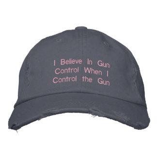 Creo en control de armas cuando controlo el arma gorra de beisbol bordada