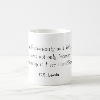 """""""Creo en cristianismo mientras que creo ese th… Taza Básica Blanca"""