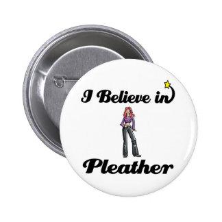 creo en cuero pin