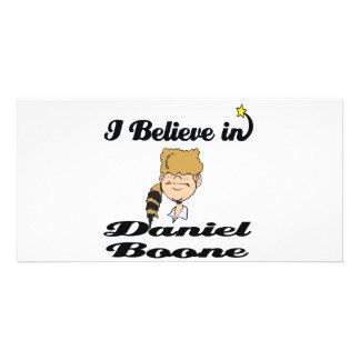 creo en Daniel Boone Tarjetas Con Fotos Personalizadas
