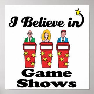 creo en demostraciones de juego póster