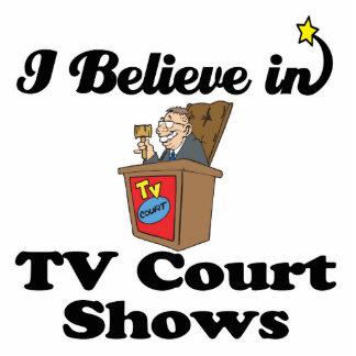 creo en demostraciones de la corte de la TV Escultura Fotografica