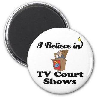 creo en demostraciones de la corte de la TV Imán Redondo 5 Cm