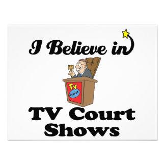 creo en demostraciones de la corte de la TV Comunicado