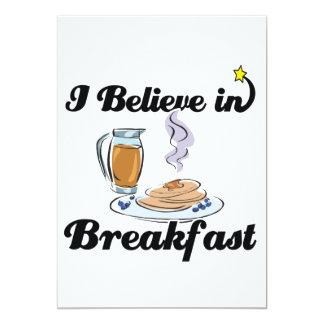 """creo en desayuno invitación 5"""" x 7"""""""