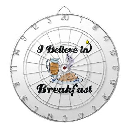 creo en desayuno tabla dardos