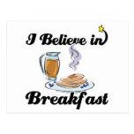 creo en desayuno tarjeta postal