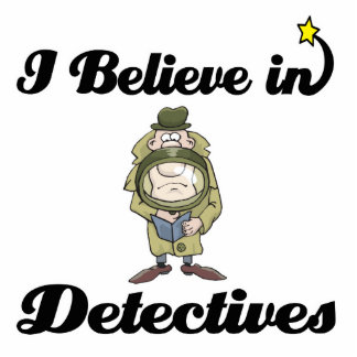 creo en detectives fotoescultura vertical