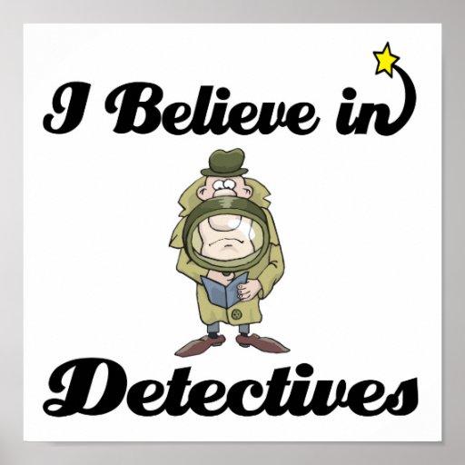 creo en detectives póster