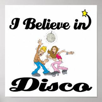 creo en disco póster