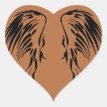 Creo en diseño del ala de los ángeles colcomanias corazon
