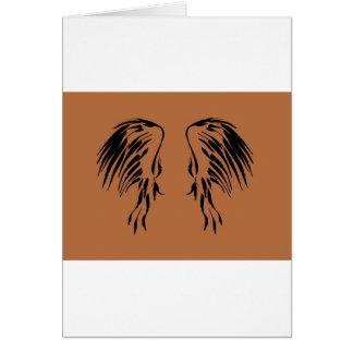 Creo en diseño del ala de los ángeles tarjeta