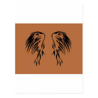 Creo en diseño del ala de los ángeles postal