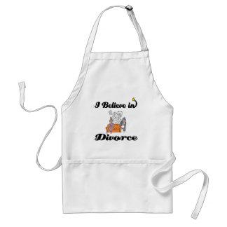 creo en divorcio delantal