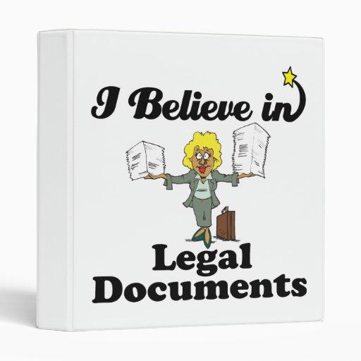 creo en documentos jurídicos