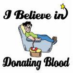 creo en donar sangre escultura fotografica