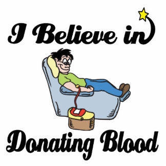 creo en donar sangre fotoescultura vertical