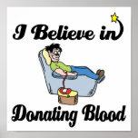 creo en donar sangre impresiones