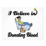 creo en donar sangre invitacion personalizada